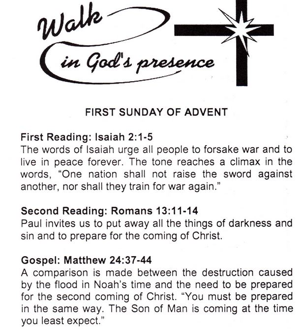readings for the first sunday of advent st margaret. Black Bedroom Furniture Sets. Home Design Ideas