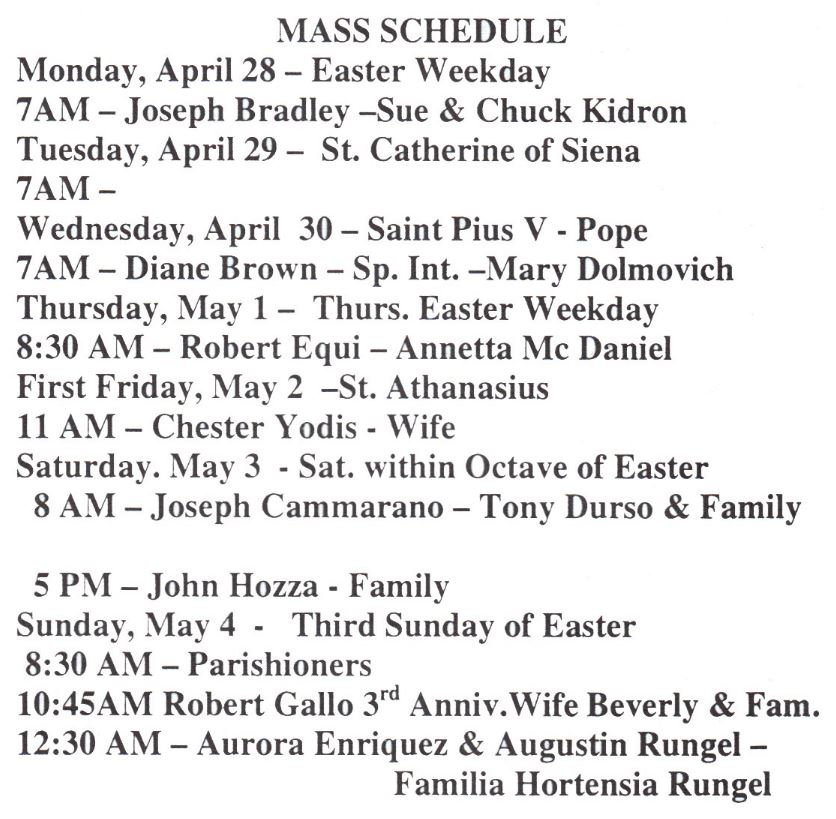 Download image St Mary Catholic Church Mass Schedule PC, Android ...