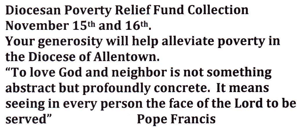 poverty relief