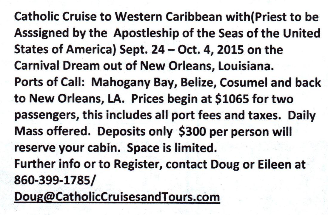 catholic cruises